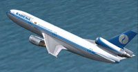 Screenshot of Sabena Douglas DC-10-30F in flight.