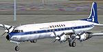 Screenshot of Sabena Douglas DC-7 on the ground.