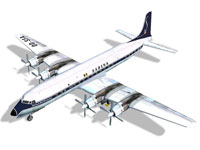 Screenshot of Sabena Douglas DC-7C model.