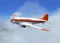 Screenshot of Sadelca Colombia Douglas DC-3 in flight.