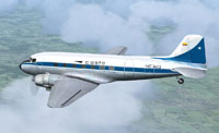 Screenshot of Douglas DC-3 HC-AVQ in flight.