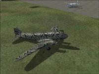 Screenshot of Safari Douglas DC-3 on the ground.