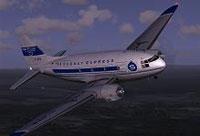 Screenshot of Saguenay Express Curtiss C46 in flight.