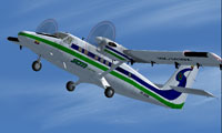 Screenshot of Sam Colombia DeHavilland Twin Otter in flight.
