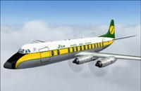Screenshot of San Ecuador Vickers Viscount 800 in flight.