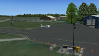 Screenshot of Saratoga County Airport scenery.