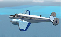 Screenshot of Savage Air Beechcraft D18S in flight.