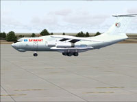Screenshot of Sayakhat Airlines Ilyushin IL-76TD on the ground.