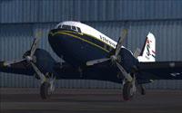 Screenshot of Schneider Airways Douglas C-47 on the ground.