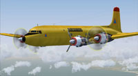 Screenshot of Securite Civile Douglas DC6B in flight.