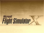 The Microsoft Flight Simulator X Logo seen through a sepia filter.