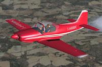 Screenshot of Sequoia Aircraft Falco F8L in flight.