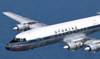 Screenshot of Seven Seas Douglas DC-7C in flight.