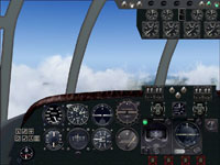 Virtual cockpit of the Short S.25V Sandringham.