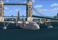 Screenshot of Short S.45 Solent 3 on the Thames.
