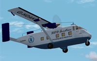 Screenshot of Shorts SkyVan in flight.