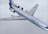 Screenshot of Siberia Tupolev Tu-154 B2 RA-85495 in the air.