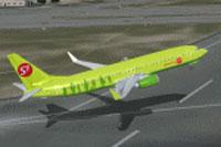 Screenshot of Siberian Boeing 737-800 taking off.