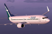 Screenshot of Silk Air Boeing 737-800 in flight.