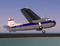 Screenshot of Silver City Bristol 170 in flight.