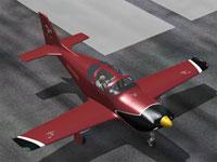 Screenshot of Skagit Valley College Glasair III on runway.