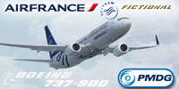 Screenshot of SkyTeam Air France Boeing 737-900 in flight.