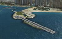 Screenshot of Skydive Dubai scenery.