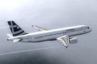 Screenshot of Skygreece Airbus A320 in flight.