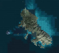Satellite view of Skyros/Photoreal scenery.