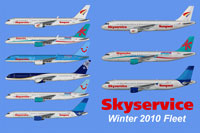 Image showing profiles of the Skyservice Winter 2010 Fleet.