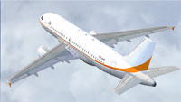 Screenshot of Skytraders Airbus A319LR/ACJ in flight.
