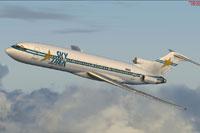 Screenshot of Skytrek International Airlines Boeing 727-200 in flight.