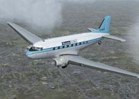 Screenshot of Skyways Coach-Air Ltd. Douglas DC-3 in flight.