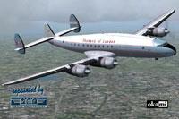 Screenshot of Skyways of London Lockheed L-749 in flight.