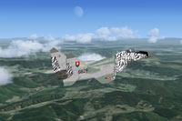 Screenshot of Slovak Air Force MiG-29 6829 in flight.