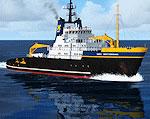 Screenshot of the Smit Rotterdam Heavy Tug on the water.