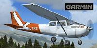 Screenshot of Sounds Air Cessna 172 ZK-EKE in the air.