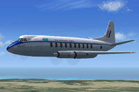 Screenshot of Vickers Viscount 700 in flight.