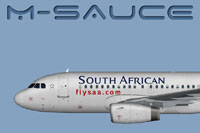 Side view of South African Airways Airbus A319.