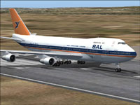 Screenshot of South African Airways Boeing 747-200 on runway.