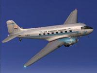 Screenshot of South African Airways Douglas DC-3 in flight.