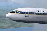 Screenshot of Southern SCVA Boeing 727-200 in flight.