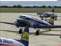 Screenshot of Southern Airways Douglas DC-3 on the ground.