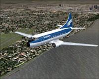 Screenshot of Southern Airways Martin 404 in flight.