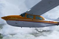 Screenshot of Southern Cross Cessna C210T VH-BRD in flight.