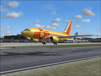 Screenshot of Southwest Airlines Boeing 737-700 taking off.