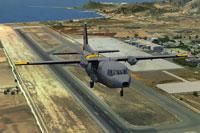 Screenshot of C212 Aviocar 801 taking off.