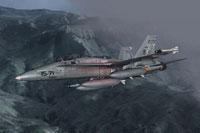 Screenshot of SAF EF-18B '15-71 Standard' in flight.