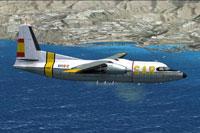 Screenshot of SAF Fokker F27 SAR in flight.