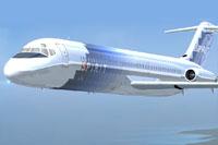 Screenshot of Spirit Douglas DC-9-30 in flight.